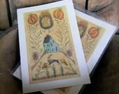 Goat Hill - LIMITED EDITION Folk Art Notecards - from Notforgotten Farm™