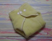 Organic Cotton Winged Prefold-- Butter Yellow Cotton Velour