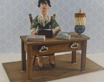 Dorothy Parker Author Miniature Diorama Desk Satire Writer