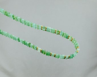 Peruvian Opals and 14K Gold Necklace