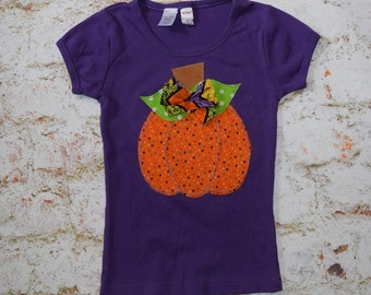 "Girls ""HALLOWEEN BRIGHTS"" collection Pumpkin-style  tee only in sizes 6-12-18-24 mth 2T -3-4-5-6-8"