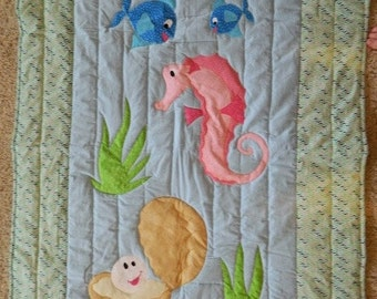 Under the Sea with pink Seahorse