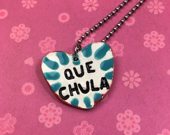 QUE CHULA Stamped Ceramic Necklace