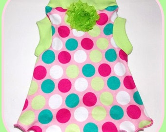 To Order Polka Dots and Lime Slip Dress