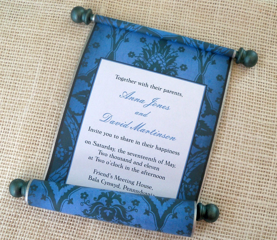 Navy Silver And Teal Wedding Invitation Classic Wedding
