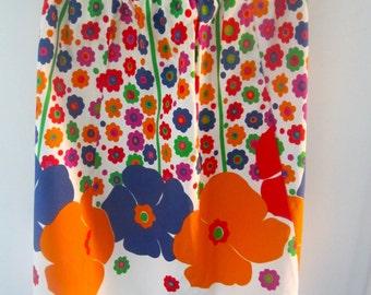 Bold floral vintage apron