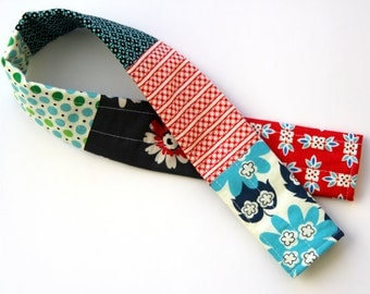 Navy Blue Patchwork Camera Strap Cover