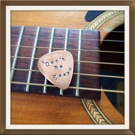 items similar to personalized guitar pick custom plectrum metal guitar pick hand stamped. Black Bedroom Furniture Sets. Home Design Ideas