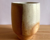 Wood Fired Cup, wheel thrown porcelain