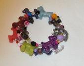 Childrens Bracelet,Childrens Jewelry,Bangle Bracelet,Dog Bracelet,Stretch Bracelet,#111