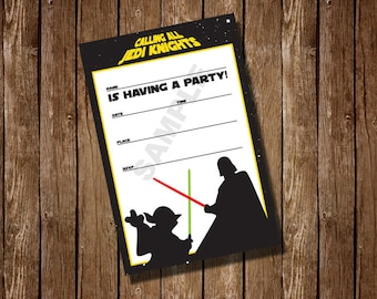 Star Wars Fill in the blank Birthday Party Invitation