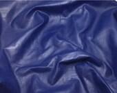 ON SALE SAPPHIRE Blue Cow Hide Leather Piece #4