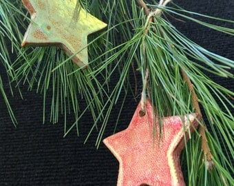 Red and Green star ornament set