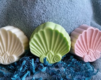 Scallop Shells Soap - Beach, Shore, Mother's Day, Party Favors, Housewarming, Bridal Shower, Wedding