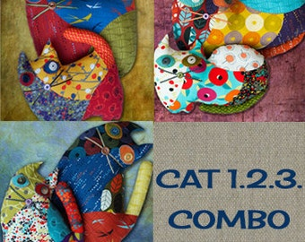 CAT 1.2.3 / Stuffed animal - COMBO PDF Patchwork Sewing Pattern