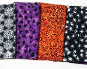 Halloween Fabric Destash – Halloween Batiks, 5 Fat Quarters – 1 1/4 Yards, 100% Cotton