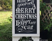 Christmas Sign, Merry Christmas Sign, Chalkboard Style Signs, A Frame Signs, Sandwich Board Signs, 37 x 16