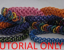 Chainmaille Tutorial - Dragon Strips - A Chainmaille Tutorial for a stretchy bracelet or bangle