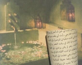 12 Arabic Book Page Covered Votive Candle Holders Wedding Party Favors Arab Saudi Tunisia Morocco Decoration Centerpiece Decor Reception