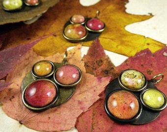Autumn Color Study - Natural Fall Foliage Pendant