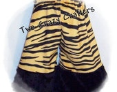 ON SALE Minky Pants, Tiger With Black Cuff, Size 2T Ready to Ship