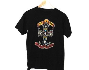 Guns n Roses band Tshirt vintage GnR appetite for destuction rock tee medium
