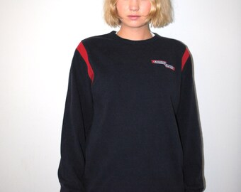 90s Tommy Hilfiger shirt 1990s long sleeve unisex athletic pull over tshirt medium