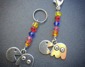 Mmmm Ghosts! MINI: Set of 2 Pac-Man inspired Stitch Markers