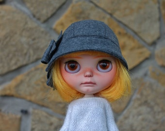 Cloche hat for Blythe denim blue