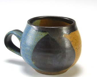 Gold Black and Blue Bubble Cup
