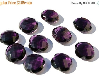 55% OFF SALE AAA Amethyst Quartz Faceted Clove Briolette, Fancy Beads, Flower Beads, Carved Beads, Clove Beads Size 15x15mm High Qualit