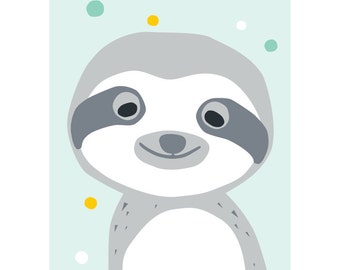 Sloth postcard - Eco friendly