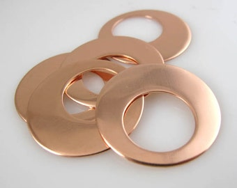 Copper Offset Washers, Earrings, Necklace Components