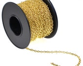 Gold Plated Chain - spool of 30 feet - destash from Rings and Things - below wholesale