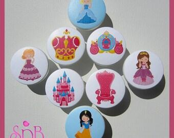 Princess Knobs • Fairy Princess Knobs • Princess Theme • Crown • Castle • Drawer Pulls • Drawer Knobs