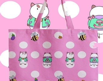 Bee and Puppycat Poo Monster All Over Print Tote Bag