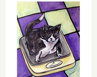 Cat On a Diet Animal Picture Art Print