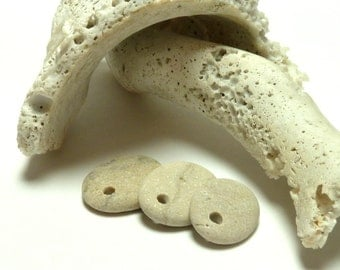 TRIPLE SHIMMER Pebbles Beach Stone Jewelry Beading DIY River Rocks Drilled Stones Natural Charms Organic Artisan Beads