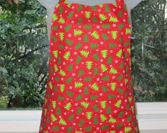 womens aprons - full aprons - christmas trees