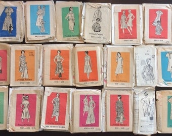 Lot of 20 Vintage Mail Order Sewing Patterns 1950's to 1960's