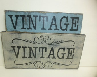 SHABBY VINTAGE SIGN / vintage sign / hand painted sign / vintage collectibles sign / vintage / wood vintage sign / wood wall sign / vintage