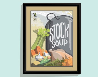 Stock Soup - 11x14 poster