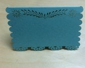 Laser cut flat card 5x7 (50 pieces) escort card food tent papel picado doily inspired