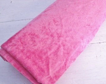 40% off SALE-use coupon code Discount40 at checkout-2+ Yards Vintage Bright Pink Velveteen Fabric