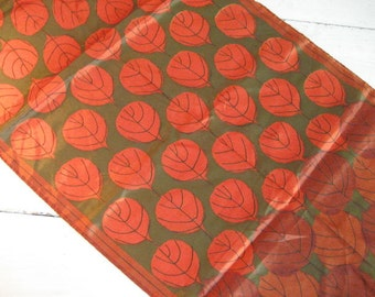 Vintage VERA Ladies Scarf with Fall Leaf Pattern- Signed with Original Tag- Made in Japan
