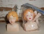 Vintage Darice Vinyl Angel Doll Heads, Vintage Doll Parts, Doll Heads