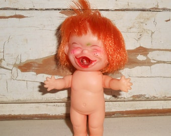 Vintage Happy Rubber Doll