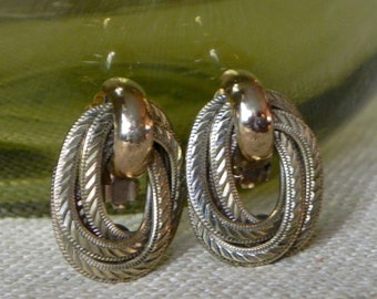 Ermani Bulatti Earrings Gold Tone Marked