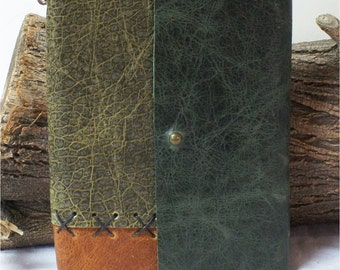 Leather Hand Stitched Travel Journal, Field Notes, Passport Cover Diary, 6X4.25