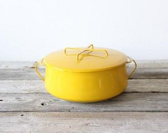 Dansk Kobenstyle Yellow Enamel Pan by Jens Quistgaard France